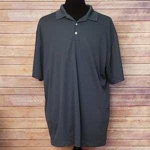 Nike Golf Dri Fit Green Polo Athletic Shirt XXL 2X